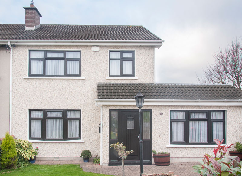 Floraville, Clondalkin, Dublin 22 U2013 A Rated PVC Windows And Doors In A Dual  Paint Finish, Black To The Outside And White To The Inside